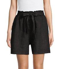 tie-waist linen shorts