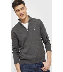 sweater nautica gris - calce regular