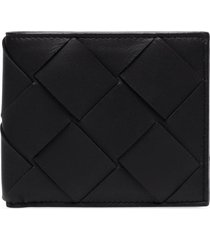 bottega veneta bi-fold leather wallet - black