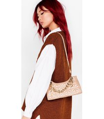 womens want my chain squeeze shoulder bag - beige
