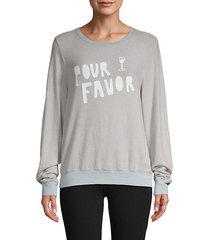 pour favor graphic sweatshirt