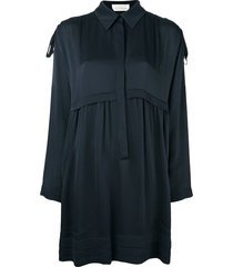 chloé loose-fit shirt dress - blue
