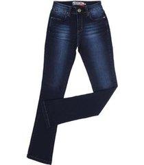 calça jeans boot cut escura rodeo western feminina