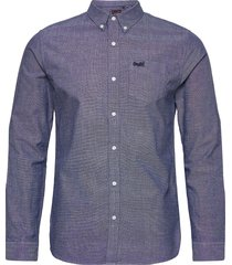 classic university oxford l/s shirt skjorta casual blå superdry