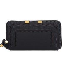 chloé long mercie wallet in black leather