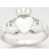 sterling silver ladies heavy claddagh ring size 5.5