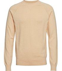 m. cotton cashmere knitted swe gebreide trui met ronde kraag geel filippa k