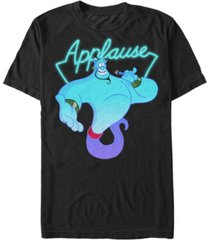 disney men's aladdin genie applause neon light short sleeve t-shirt