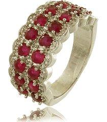 anel viva jolie vintage rubi