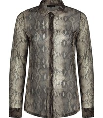 blouse print neutrals