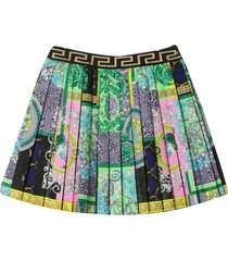 young versace multicolor skirt