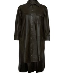 chili thin leather dress kort klänning grön mdk / munderingskompagniet
