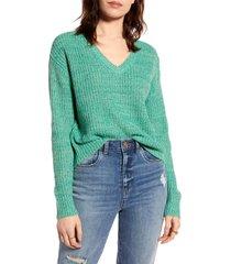 women's bp. marled v-neck pullover