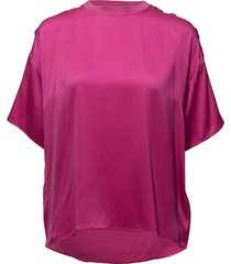 kennedy ss top ms18 blouses short-sleeved roze gestuz