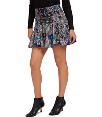guess lubia printed mini skirt