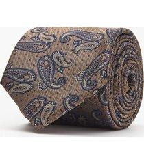 krawat paisley brąz 101