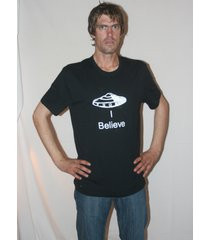 flying saucer ufo x-files themed i believe t shirt glow in dark choose colour/si