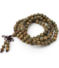 braccialetto con perline buddista di legno sandalo