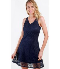 vestido de encaje lola azul marino night concept