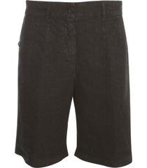 aspesi linen long shorts