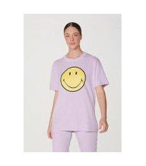 camiseta unissex estonada manga curta smiley® - 4fhjyuben1