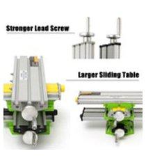 1 pcs x eixo y mini máquina de fresagem de precisão mesa de trabalho multifuncional furadeira aparelho de mesa de trabalho (tamanho da tabela: 330 * 95mm)