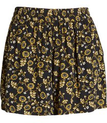treasure & bond floral crepe shorts, size x-small in black scrolling floral at nordstrom