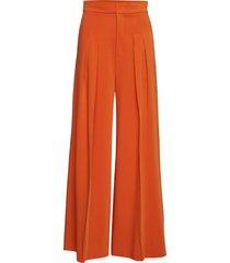 abra wide pant wijde broek oranje inwear
