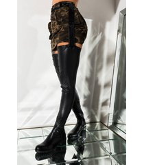 akira azalea wang smitten over you detachable belt thigh high flat boot