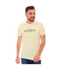camiseta calvin klein masculina tropical paradise amarela