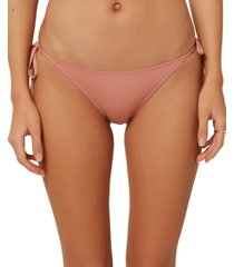 o'neill juniors' salt water solids side-tie cheeky bikini bottoms women's swimsuit