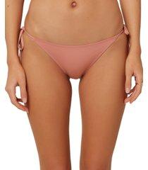 o'neill juniors' salt water solids side-tie cheeky bikini bottoms women's swimsuit