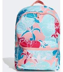 mochila adidas bp cl flower originals multicolorido - multicolorido - feminino - dafiti