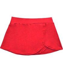 bikini short falda rojo samia