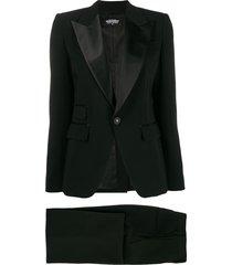 dsquared2 satin lapel evening suit - black