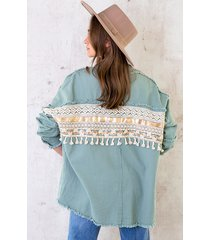 ibiza tassel jacket mint