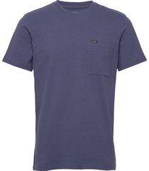 heavy jersey pkt tee t-shirts short-sleeved blå lee jeans