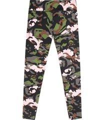 leggings sport mujer militar color verde, talla l