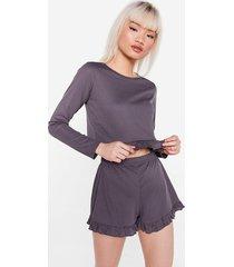 womens better than sets petite jersey pajama set - slate