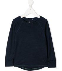 knot merino wool fine knit t-shirt - blue