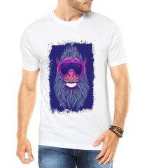 camiseta criativa urbana macaco neon festa