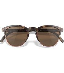 sunski avila 51mm polarized browline sunglasses in tortoise amber at nordstrom