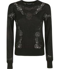 dolce & gabbana floral lace paneled sweatshirt