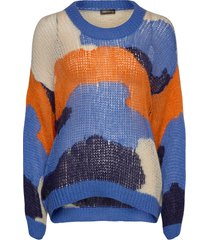 sana, 879 camouflage knit stickad tröja multi/mönstrad stine goya