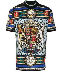 dolce & gabbana stained-glass print t-shirt - black