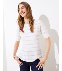 loft petite striped peplum sweater
