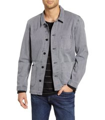 men's bldwn herko regular fit water repellent canvas jacket, size medium - grey