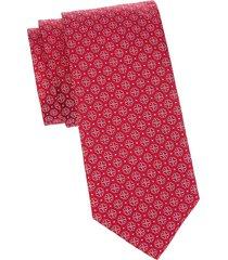eton men's medallion-print silk tie - pink red