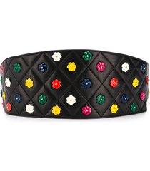 chanel pre-owned 1990's bead-embellished belt - black