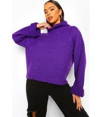 coltrui met omgeslagen mouwen, purple